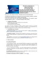 élections départementales et régionales les 13 et 20 juin 2021