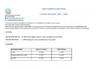 Tarif cantine et garderie 2021-2022